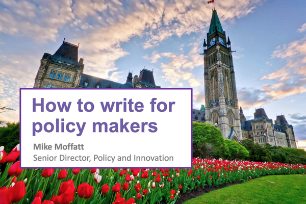 Video | How to write for policy makers